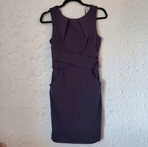 Le Chateau Fitted Navy Dress